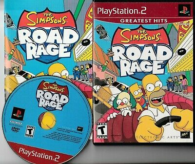 THE SIMPSONS ROAD Rage Sony Playstation 2 PS2 Video Game