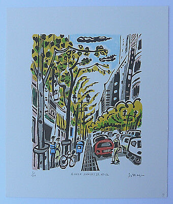 Limited Edition Japanese Woodblock Print By Someya, Hisao Ginza Namiki Street