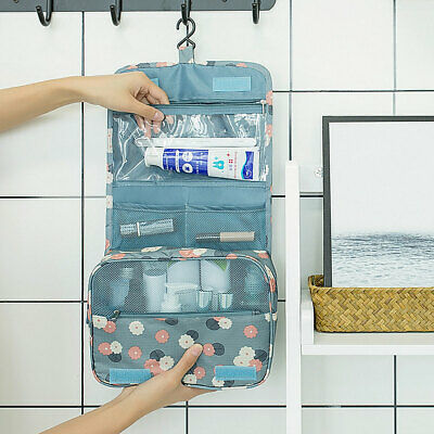 ALS_ Portable Travel Waterproof Folding Make up Cosmetic Toiletry Wash Bag Organ