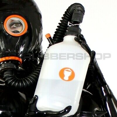Inhaler Set For Gas Mask Rubber Latex Fetish Hood Catsuit Corset Dress Body Cape