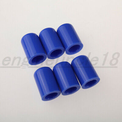 "New 6PCS 12mm 15/32"" Blue Silicone Blanking Cap Intake Vacuum Hose End Bung Plug"