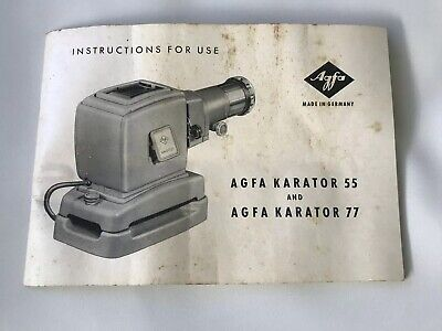 Vintage Agfa Karator Slide projector working