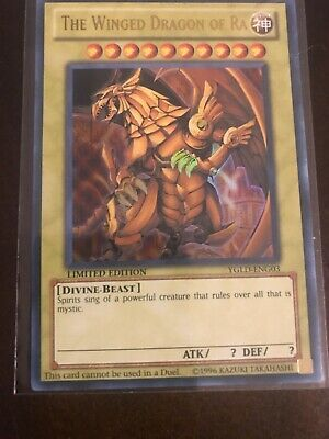 Yugioh The Winged Dragon of Ra YGLD-ENG03 Limited Edition Ultra Rare Near Mint