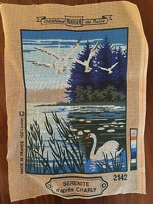 MARGOT TAPESTRY NEEDLEPOINT - Canvas only, Image 295 x 215 mm - Made in France
