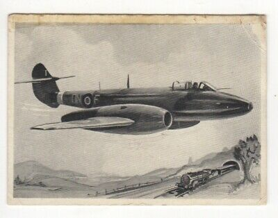 Wonders of the Air Comic Cards. RAF Gloster Meteor