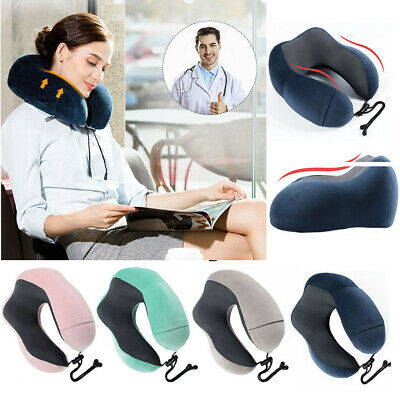 U-shaped Memory Foam Travel Pillow Neck Support Head Rest Airplane Soft Cushion