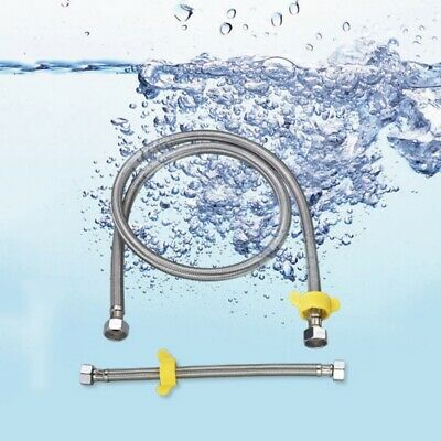 20CM Faucet Sink Connector Water Supply Line Hot Cold Water Faucet Hose USA