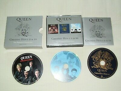 Queen Greatest Hits I II & III The Platinum Collection 3 CD Set-