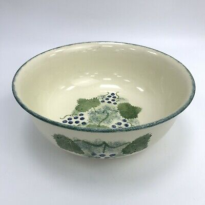 POOLE POTTERY Hand Painted Grape Design Large Serving Bowl SU160310