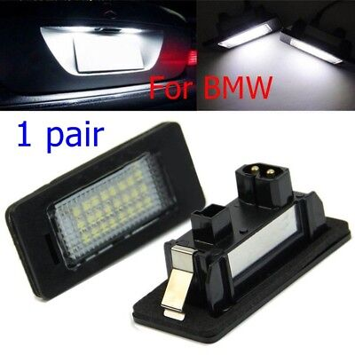 2x bright LED License number Plate Lights For 97-03 For BMW 5-series E39