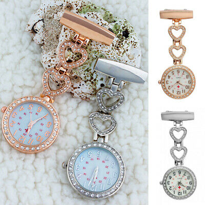 Crystal Stylish Nurse Watch Brooch Tunic Fob Watch Doctor Medical Best Gift uk