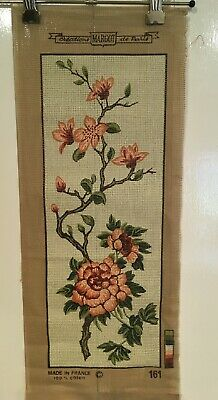 MARGOT TAPESTRY NEEDLEPOINT - Canvas only, Image 175 x 475 mm - Made in France