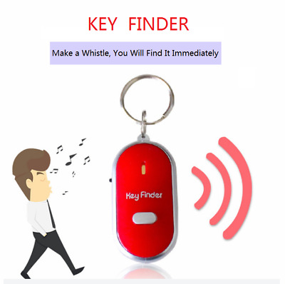 LED Torch Anti-Lost Key Finder Locator Keychain Whistle Sound Control Keyring UK
