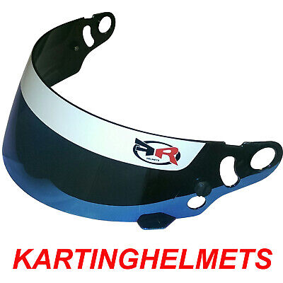 FR HELMETS Mirror Blue visor compatible with FK08, OMP KJ-7, MT CMR, V2CMR