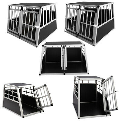 Large Small Metal Dog Pet Puppy Cage Kennel Fit Car Boot Trapezoid Carrier Box