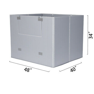 "48"" x 40"" x 34"" Plastic Pallet Pack Container Board"