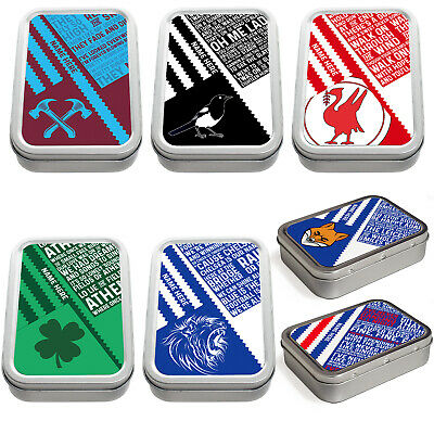 Retro Football Tobacco Tin 2oz Baccy Storage Personalised Gift - All Teams