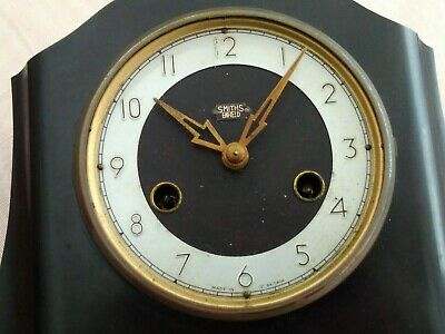 "Used  Vintage Smiths "" Enfield ""Bakelite Mantle Chiming Clock Spare Or Repair"