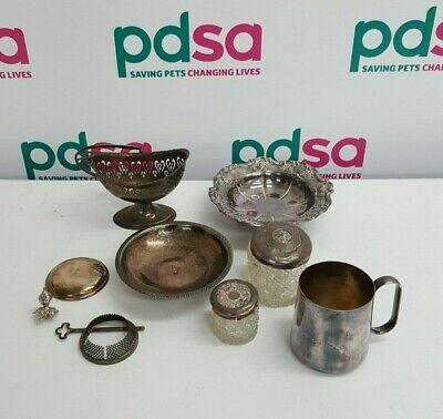 """Job Lot of Vintage Silver Plated & EPNS Items (Including """"Cavalier"""" Dish)- Y1095"""
