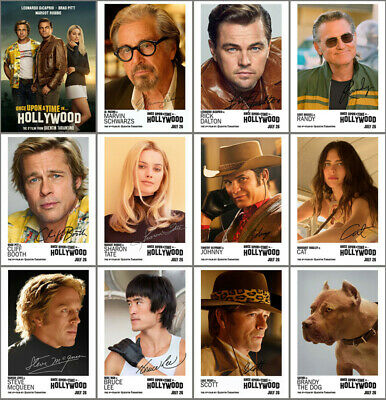 12 Once Upon a Time in Hollywood Movie 2019 Mirror Surface Postcard Promo Card B