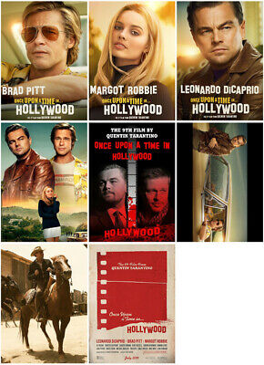 8pc Once Upon a Time in Hollywood Movie 2019 Mirror Surface Postcard Promo Card