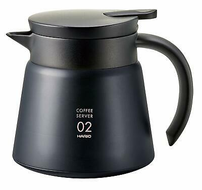 Hario Coffee V60 Heat Retention Stainless Server 600 Black VHS-60B from JAPAN