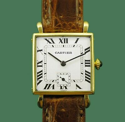 Vintage 1940's Cartier Paris 18k Gold  Watch Jaeger Le Coultre (EWCC) Movement