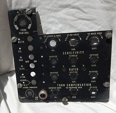 WW 2 US AAF B-17, B-24 B-29 Bomber C-1 Autopilot Control Panel Assembly Cover
