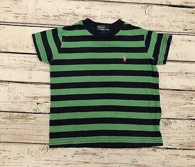 Green Blue Striped Polo Ralph Lauren Tshirt Size 2t Boys Includes FREE SHIPPING