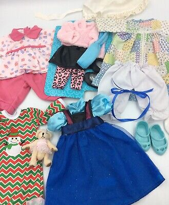 """Lot of 14"""" Doll Clothes Fits American Girl Doll Wellie Wishers"""