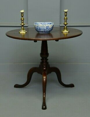 George II Mahogany Tilt-Top Breakfast / Supper / Side Table