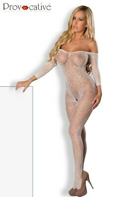 Bodystocking Ouvert Blanc Abigaëlle Provocative
