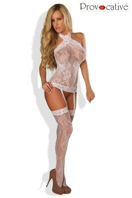 Bodystocking Ouvert Blanc Aurora Provocative