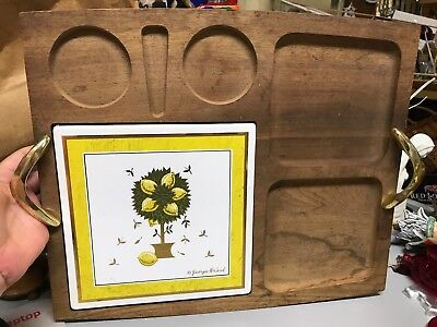 RETRO Mid Century Georges Briard Woodland Cheese Cutting Board Serving Tray