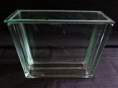 SMI Glass TLC Thin Layer Chromatography Developing Tank w/ Lid 20cm Chipped