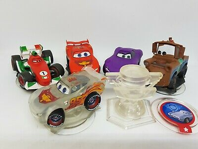 Disney Infinity Cars Bundle. 5 Figures & Playset Crystal. Great condition.