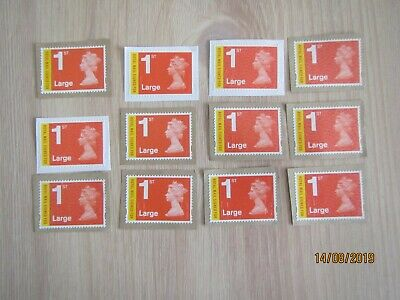 GB, 12 X 1st class Royal Mail Signed for used, unfranked Stamps see photo
