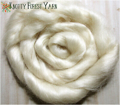 Yearling Mohair Top Roving Natural White ~ 1 ONE POUND ~ Spinning Doll Hair