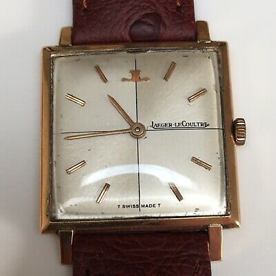 Vintage Jaeger-Le Coultre Gold Cased Tank Watch