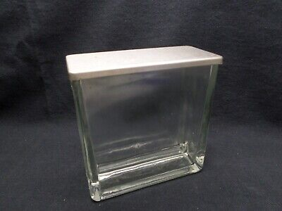 Camag Glass TLC Thin Layer Chromatography Twin Trough Chambers SS Lid 10cm Chips