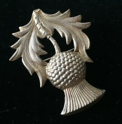 Vintage Brooch Pin STERLING SILVER 925 Scottish Thistle Scotland Kilt lot y