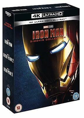 IRON MAN 1-3 Movie Collection [4K Ultra HD + Blu-ray] Marvel Trilogy UHD Set