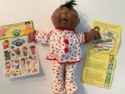 Mattels First Edition 1991 Cabbage Patch Doll~Puffy Stickers Nip~More Afro/Amer!