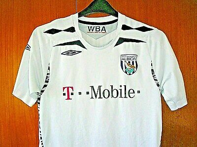 West Bromwich Albion Football Shirt Umbro White Away size S 36/38