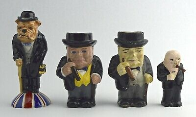 Lot of 4 Winston Churchill Ceramic Mini Figurines - NO RESERVE BI-44
