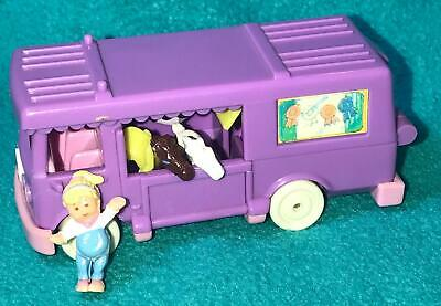 Polly Pocket Stable on the Go Horse Trailer COMPLETE Van RV 1994 Pony vintage