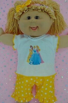 """Play n Wear Dolls Clothes To Fit 16"""" Cabbage Patch POLKA DOT PANTS~TOP~HEADBAND"""