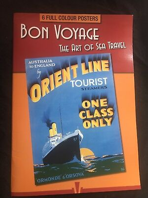 Book Of 6 Full Colour Posters Bon Voyage Sea Travel 'The Art Of The Sea'