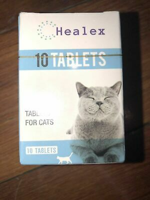 10 Tablets Healex Cat Dewormer Tablets for Cats with Tapeworm & Roundworm (NEW)