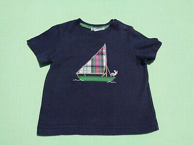 janie and jack baby boys nautical top size 12-18 months anchor harbor sailboat